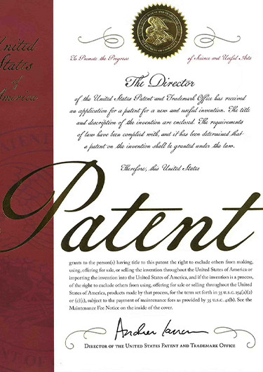American invention patent of EIR